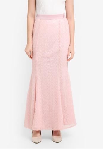 Zalia pink Sequin Mermaid Skirt 35999AA3A24C18GS_1