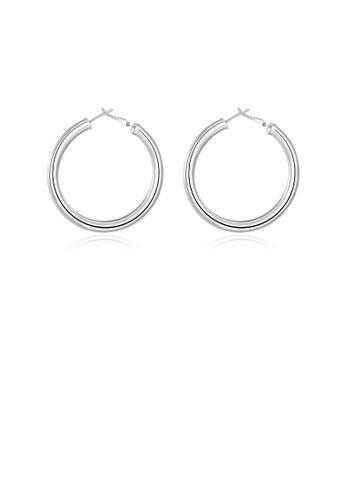 Glamorousky silver Fashion Simple Round Earrings 7FA58AC1744088GS_1