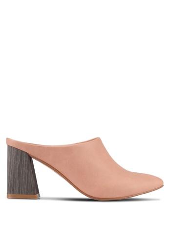 ZALORA pink Detailed Chunk Heels A237CSHA4056C5GS_1