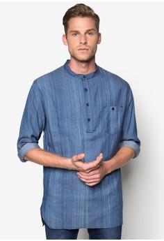 Denim Long Sleeve Tunic Shirt