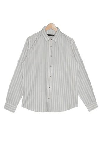 Trendyol yellow Slim Fit Long Sleeve Striped Shirt 67CD1AA9142450GS_1