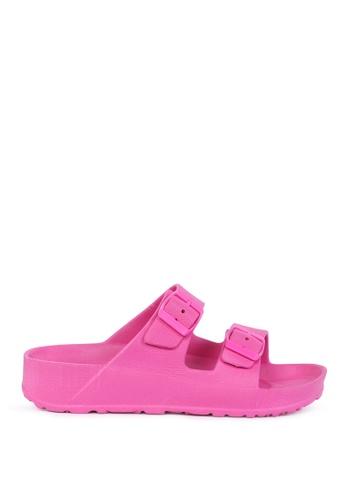 London Rag 粉紅色 粉色EVA合成托鞋 E6E65SH870748BGS_1