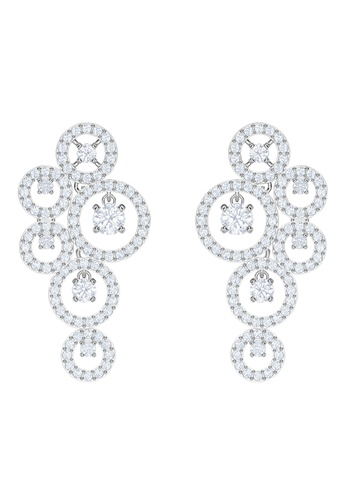 Swarovski silver Creativity Chandelier Pierced Earrings ADB9CAC56B866AGS_1