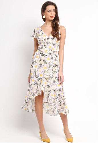 Dorothy Perkins white Daisy Print Midi Dress 40664AAA585E6AGS_1