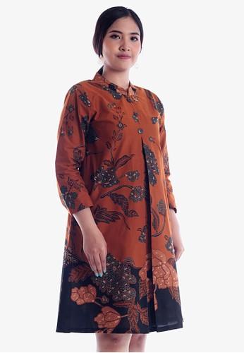EAJA brown Ishya Dress E63D4AA98B49FDGS_1