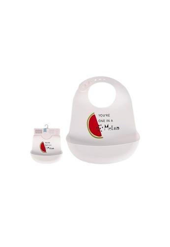 Little Kooma white Baby's Silicone Bib 00587 - 0729 9B04CKC7376D84GS_1