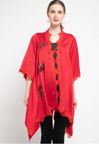 LUIRE by Raden Sirait red Kebaya Tuxedo Lvs 87BB0AA31F8108GS_1