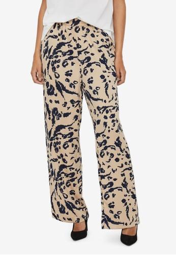 Vero Moda beige High Waisted Trousers 01FDFAADA64D91GS_1