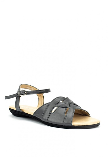 Mario D' boro Runway grey Veronica Flat Shoes 02868SHD6BCEDDGS_1