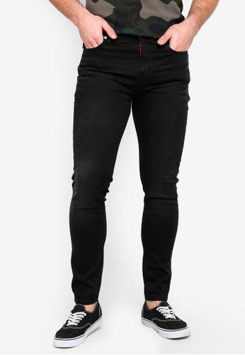 Superdry 黑色 Skinny Travis Jeans F5348AAE3FC375GS_1