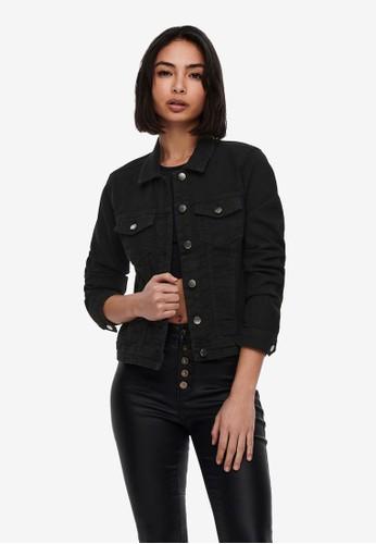 ONLY black Wonder Long Sleeve Denim Jacket C23B9AA050A986GS_1