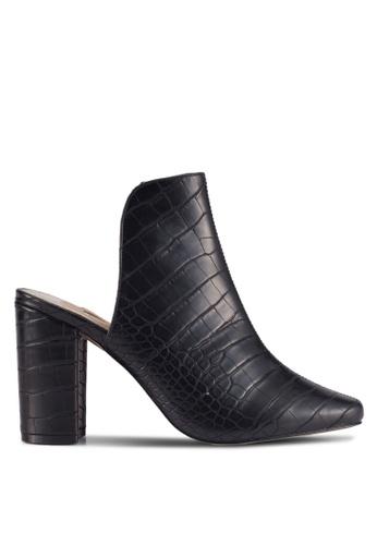 River Island black Ad Campaign Croc Closed Toe Mule 888FFSHA3161CAGS_1