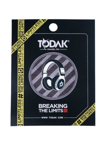 Todak black and white Todak Headphone Pin - White AA029ACD1B821DGS_1