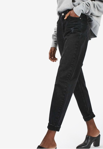 TOPSHOP black MOTO Washed Black Jeans TO412AA01RVQMY_1