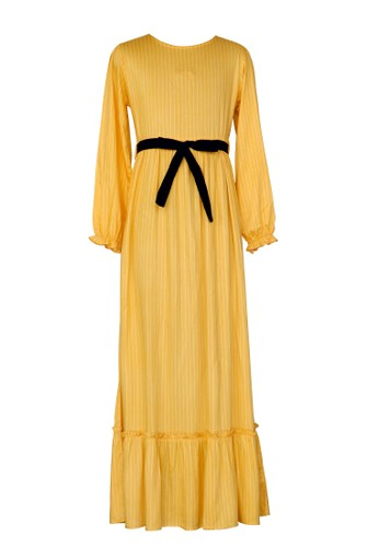 Osella Kids yellow Osella Baju Anak Perempuan Dress Stripe Yellow 91CFBKA839DAF4GS_1