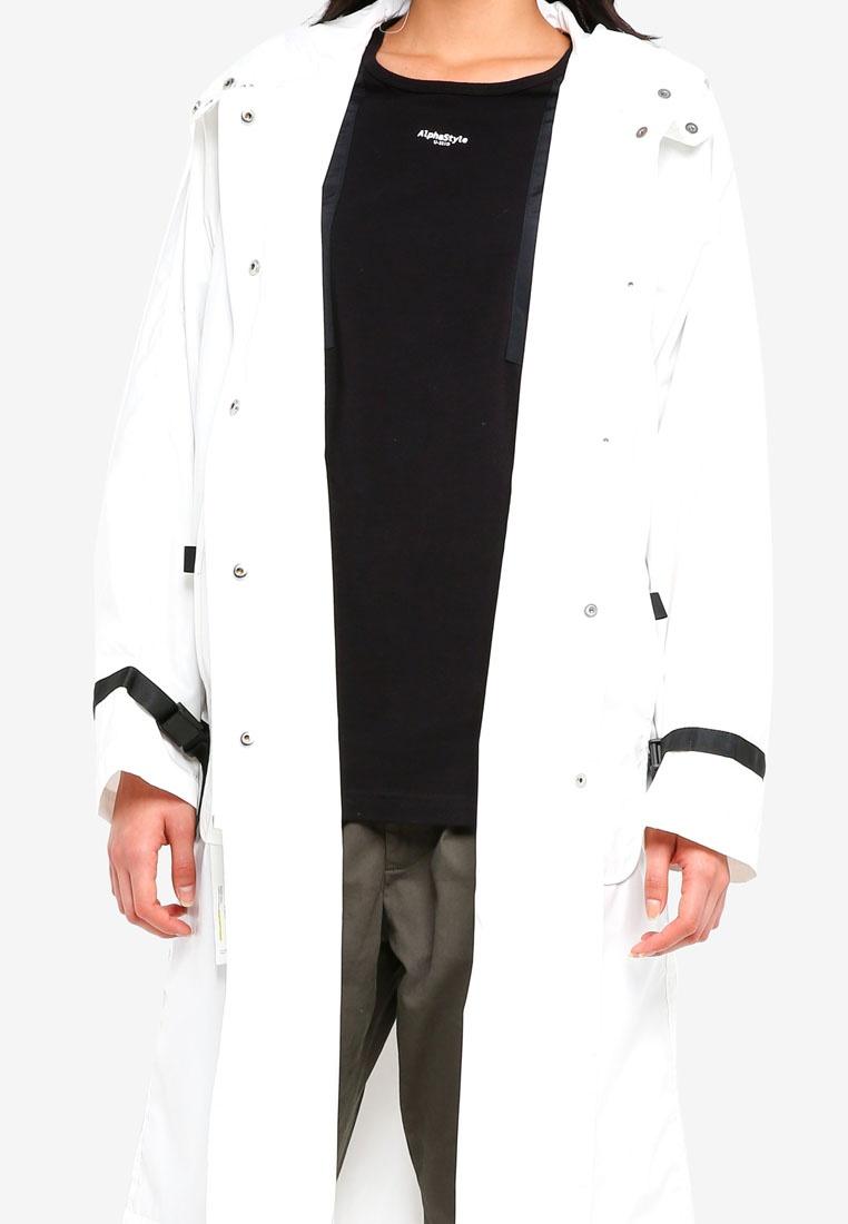 Hood Cori Alpha Style White Raincoat qHxxEp5w