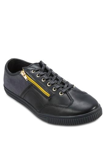 Mixed Materiesprit門市地址al Sneaker With Zip, 鞋, 鞋