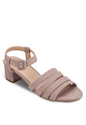 多帶繞踝方根涼鞋, 女鞋,zalora 折扣碼 細帶高跟鞋