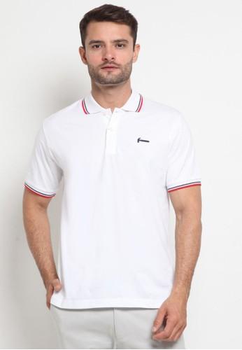 Hammer white Hammer Men Polo Shirt Fashion E1PF571 W1 White E216AAA04C7283GS_1