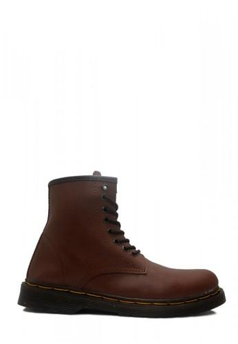 D-Island brown D-Island Shoes Boots Classic Airwair Mens High Leather Dark Brown DI594SH48EXZID_1