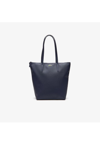 Lacoste black Lacoste Women's L.12.12 Concept Vertical Zip Tote Bag NF1890PO 3CAA5AC97F44D2GS_1