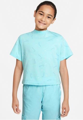 Nike blue Girls' Sportswear T-Shirt 40155KA24839B3GS_1