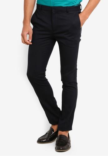 Topman 海軍藍色 Navy Ultra Skinny Trousers 8A19CAA8BD770EGS_1