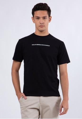 The Executive black Slim T-Shirt  Black 65B89AA1381F21GS_1