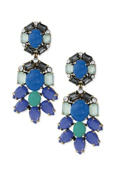 Stella and Dot Peacock Chandellier Earrings