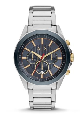 863fb7e4d993 Armani Exchange silver Drexler Chronograph Watch AX2614 BBAAEAC2F452B7GS 1