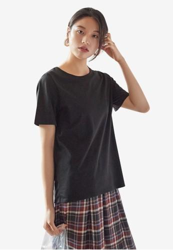 NAIN black Basic Casual Tee E11ECAA150FAFAGS_1