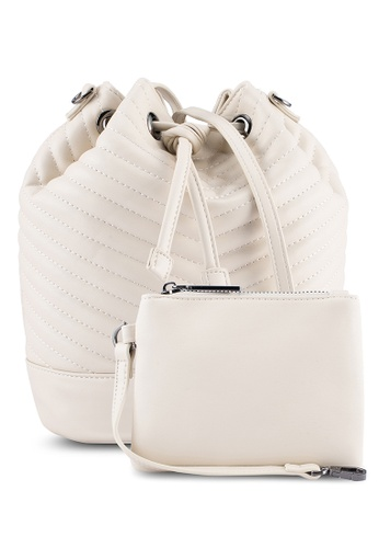 Something Borrowed beige Quilted Bucket Bag F9C45AC2D330A8GS_1