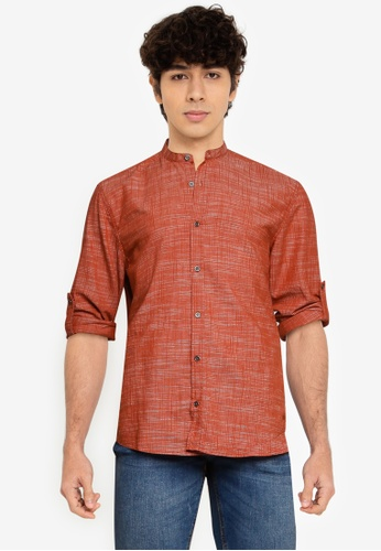 LC Waikiki red Extra Slim Fit Poplin Shirt 82E6CAA3A798E8GS_1