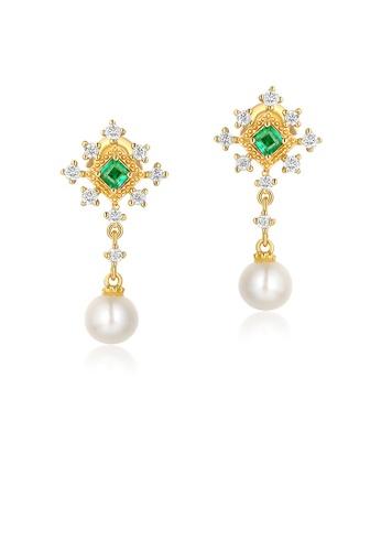 SUNSET 金色 Premium 9K Gold Pearl Earring 98454AC750D2B7GS_1