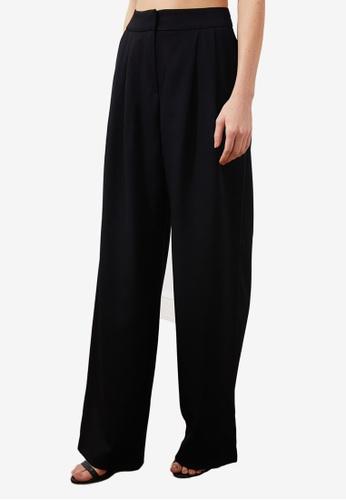 Trendyol black High Waist Wide Leg Trousers 13467AA3776ED8GS_1