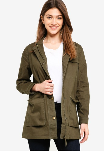 Something Borrowed green Utility Parka Jacket 56920AA985121CGS_1