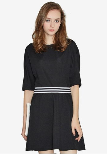 Hopeshow black Waist Striped Dress EB261AA70E71A2GS_1