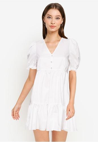 URBAN REVIVO white Casual Dress 56069AA28B17ADGS_1