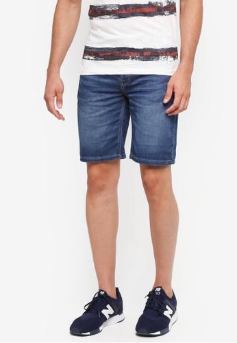 Only & Sons 藍色 修身牛仔短褲 27E5FAAE791BA0GS_1