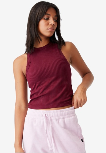 Cotton On Body red Lifestyle Racer Tank Top A298EAA7EC094CGS_1