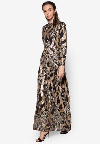 Embroidered Sequin Dresszalora退貨, 服飾, 長洋裝