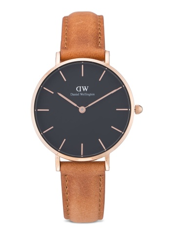 17513599dc5a Daniel Wellington brown Classic Petite Durham Watch DA376AC65PLMMY 1