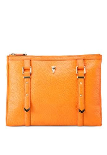 Amber 雙扣環牛esprit地址皮手拿包, 包, 皮革系列