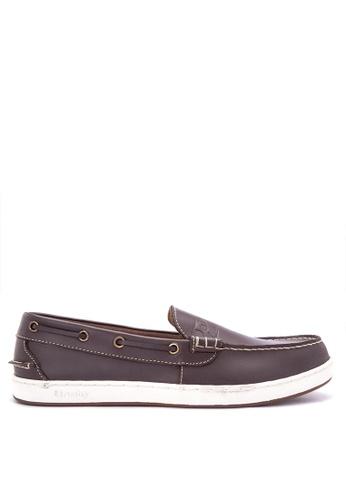 Grosby brown Seahunter Loafers GR420SH0J07NPH_1