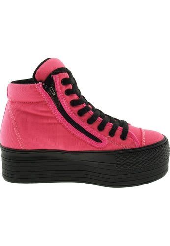 Maxstar pink Maxstar Women's C50 Padded Lining Hidden Heel Platform Canvas Sneakers US Women Size MA164SH03PQISG_1