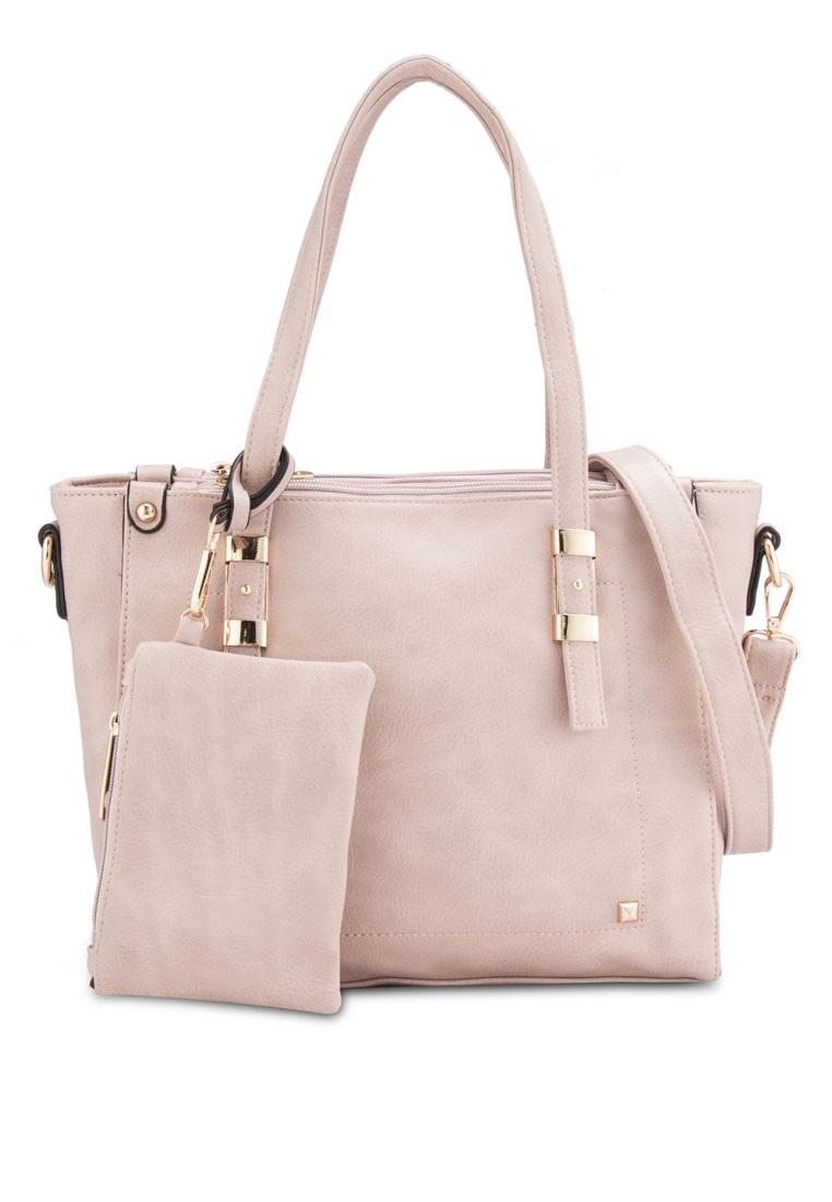 UNISA Soft Supple Convertible Tote with Wristlet