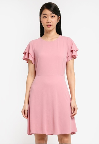 Dorothy Perkins pink Dusky Pink Fit And Flare D3D41AA6B311FCGS_1