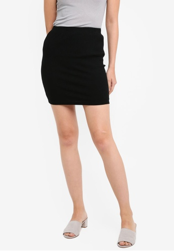 Something Borrowed black Bodycon Mini Skirt 70298AADC6B4ADGS_1