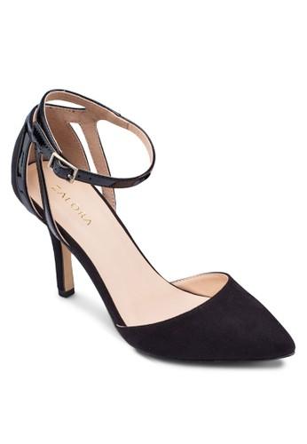尖頭鏤空zalora 台灣繞踝高跟鞋, 女鞋, 鞋