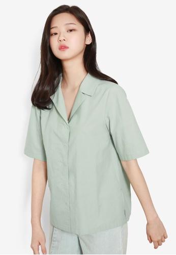 NAIN green Half Sleeve Blouse 41CFEAA3694BCEGS_1